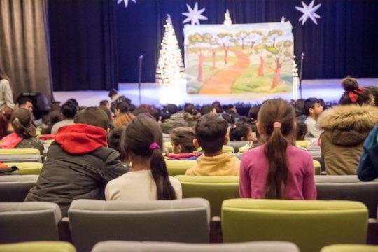 Drama play and Santa giving presents 2