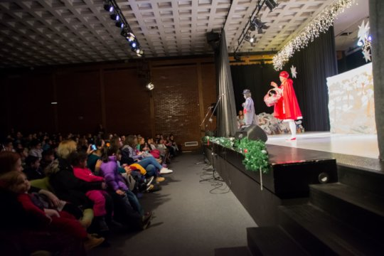 Drama play and Santa giving presents 4