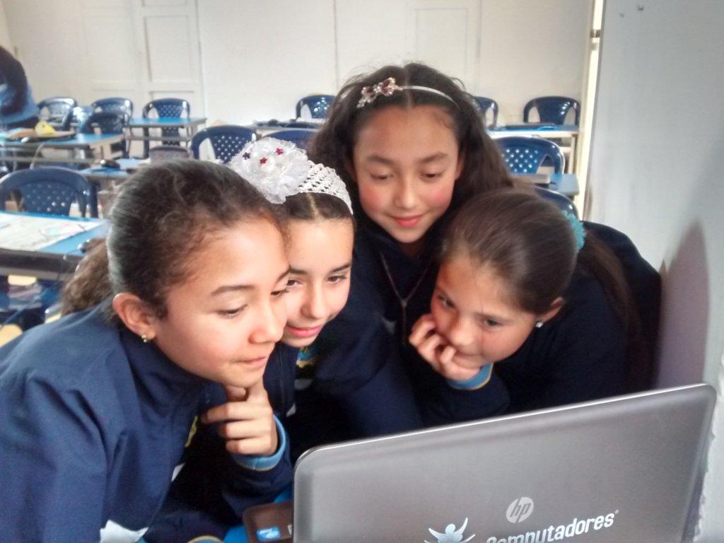 Students in La Presentacion School in Pamplona