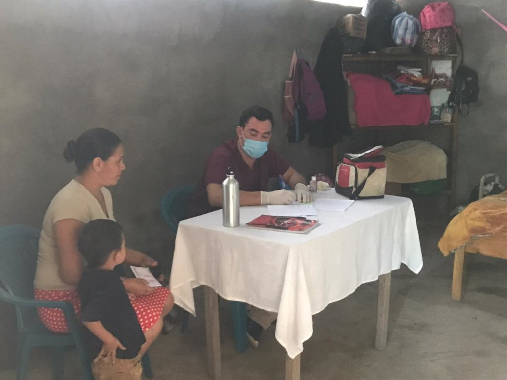 Our doctor consulting with a patient in Guazure