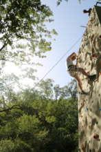 Climbing the alpine wall