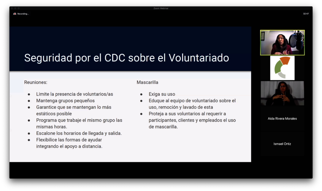 Webinar Managing a Volunteer Program in Pandemic
