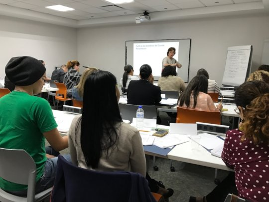 CPA Agnes Suarez offering a workshop to nonprofits