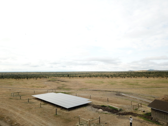 Solar borehole completion