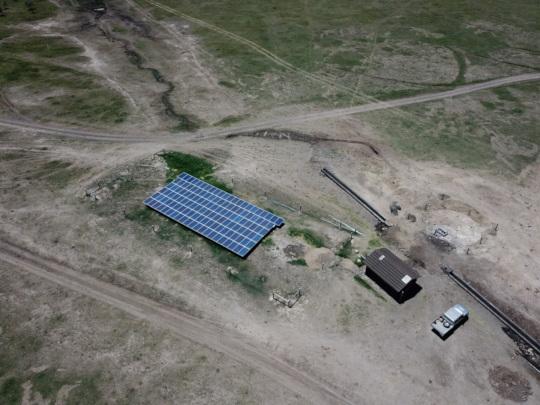 The new solar borehole at Nyumba Nne