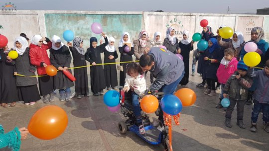 Celebration of Eman and gifting of wheelchair