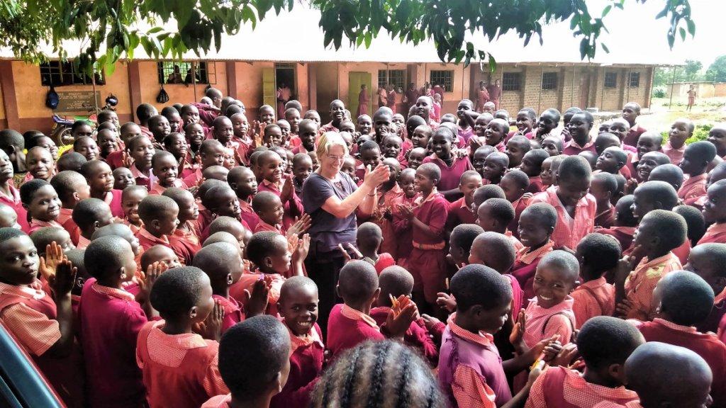 Positive Discipline mentor Eilis McDonald & pupils