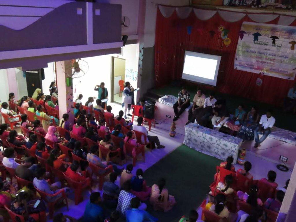 Dr.Bhagyalakshmi, Director of Sakhi Trust, hosting