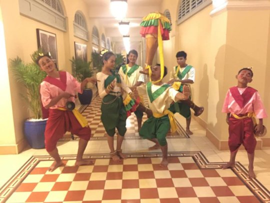 Champey Performers at Raffles Hotel
