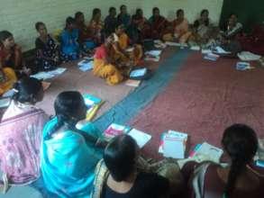 Tribal Women Farmers receiving farm basedTraining