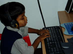 A Blind Child Learning Computer Skills