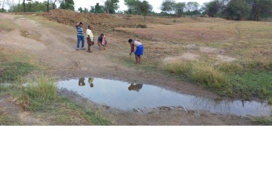 Measurement for Earthen Check Dam