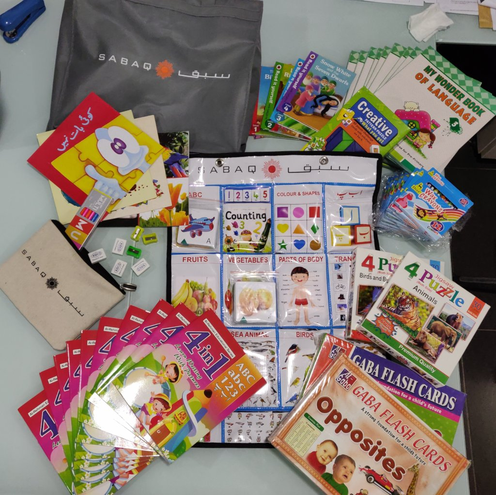 Reports on Education Kits for 21,000 children in Pakistan