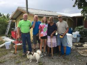 St. Croix LTRG - Senior resident receives roof