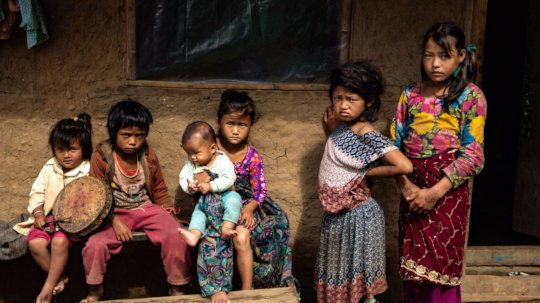 Local Nepali girls in the village where we operate