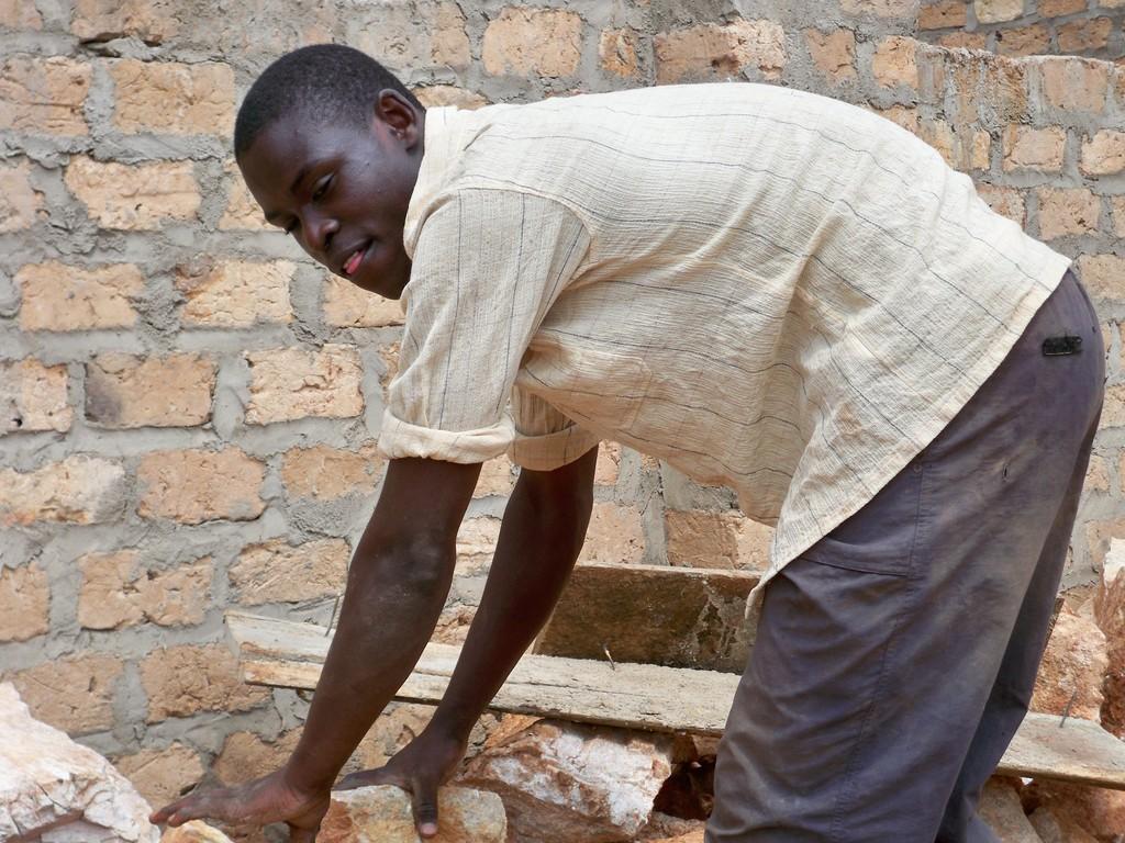 charles busy preparing the floor
