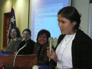 Miriam Paucar telling her testimony
