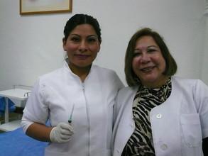 With Nurse Erika teaching us in class