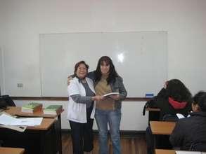 with Teacher/Nurse Erika Contreras