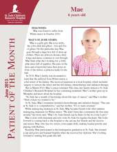 St. Jude Patient of the Month - Mae (PDF)
