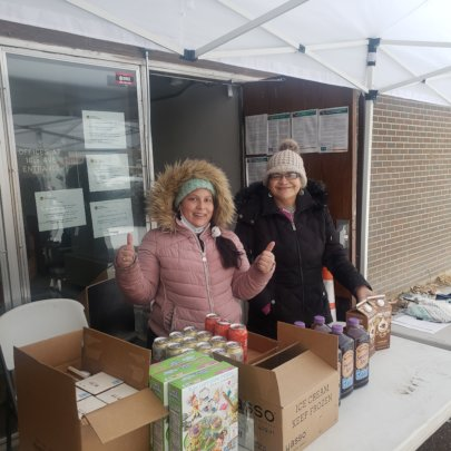 Our Natural Helpers Brave the Cold for the Pantry