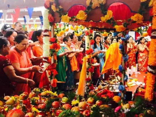 Shrimad Bhagwat Pooja with Bhutanese Community