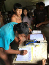 Documentation was carried out during distributions