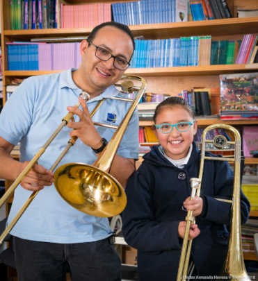 Music lessons are part of after-school learning.