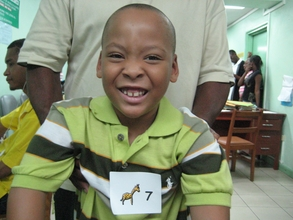 Destin smiles after his life-changing surgery.