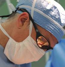 Dr. Sharps hard at work