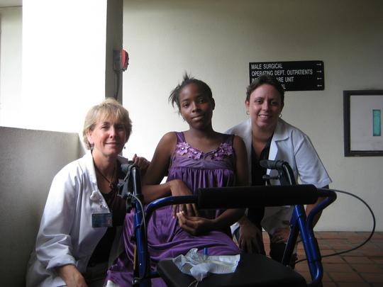 Kamara with World Pediatric Project volunteers