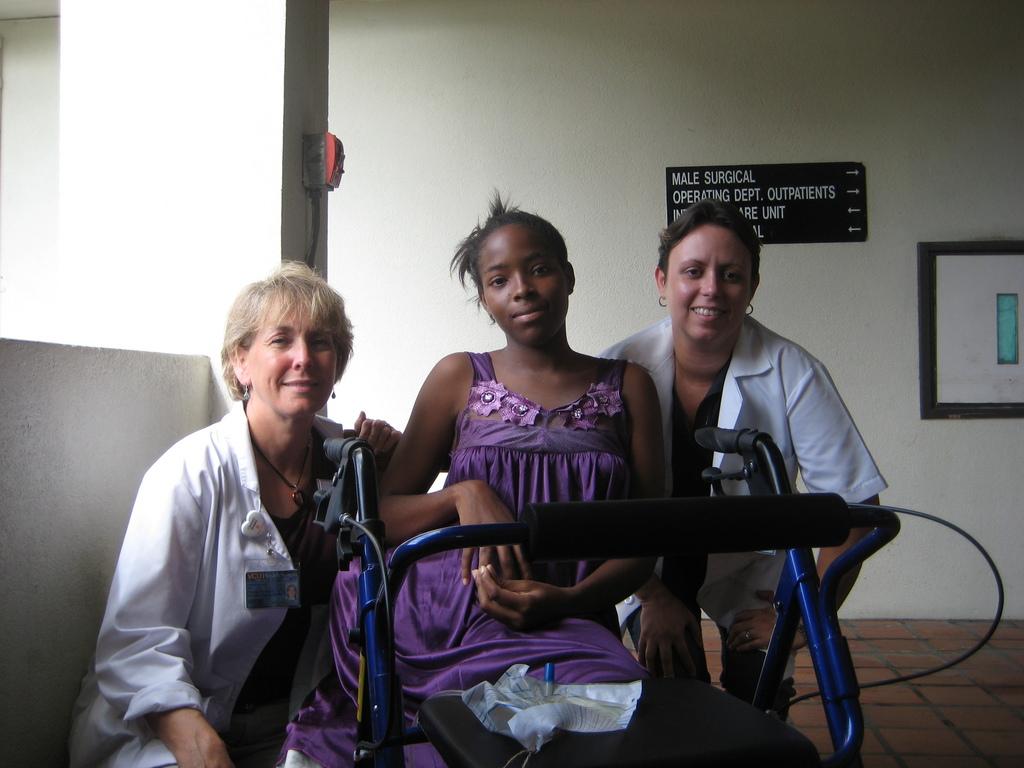 Kamara with World Pediatric Project volunteers