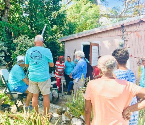 LTRG volunteers assisting the elderly