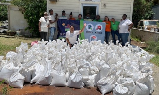 Our Youth Ambassadors filled 300 sandbags!