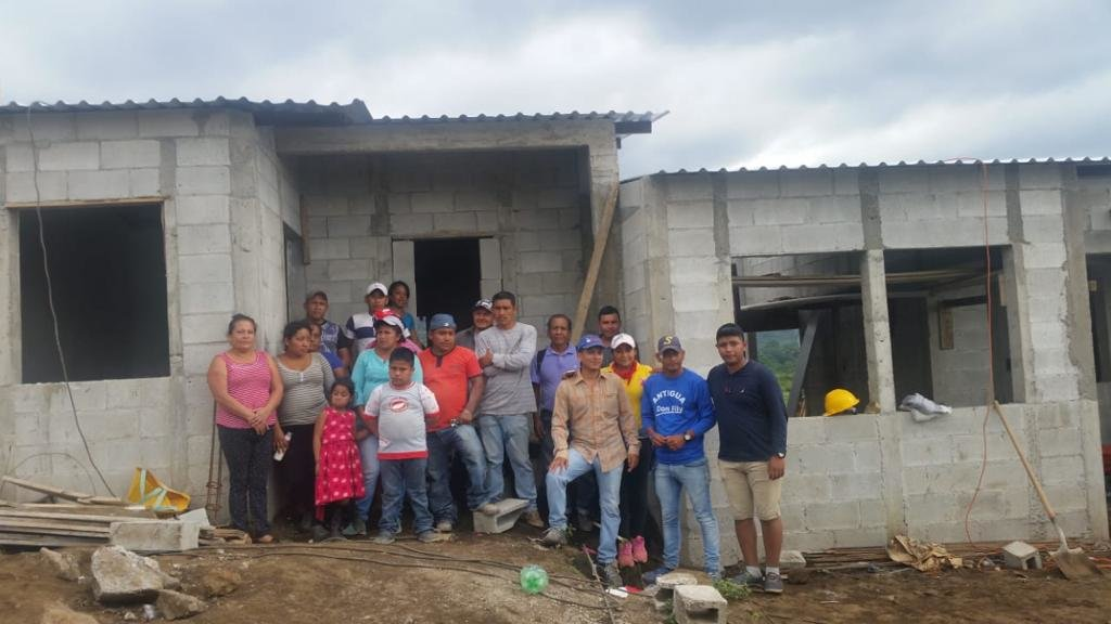 Beneficiary families who will receive new homes
