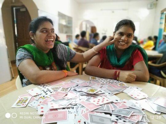 2 Sisters having some FUN @ Non Computer Activity
