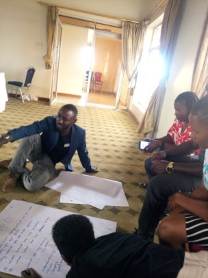 Our Executive Director during group work exercise