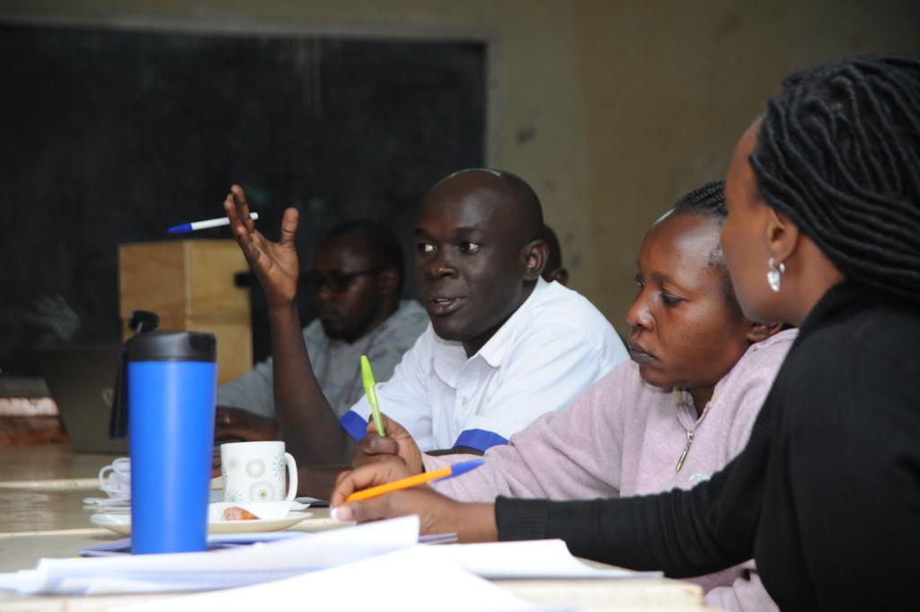 Teachers attending the workshop
