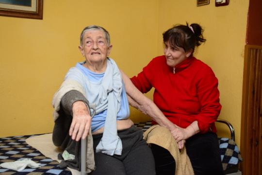 Angelina, age 83, with therapist Anila