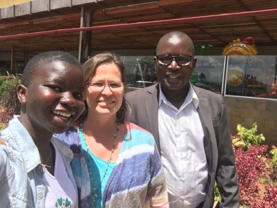 Joy with Denise Soltis and Leonard Otieno