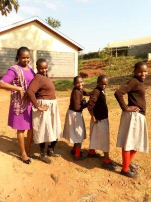 Girls from Kirunguru on their last day of term