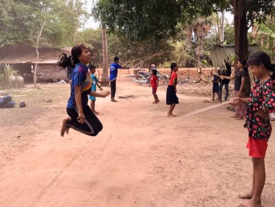 Rope skipping - getting those heart-rates up!