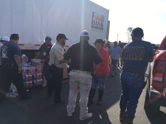 Setting up a distribution in Los Fresnos, TX.