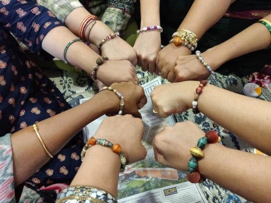 Bracelets made by CSA staff during the session