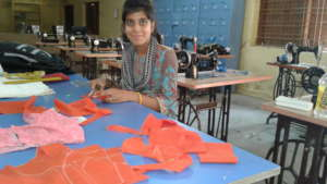 Rukhsar at her work place.....