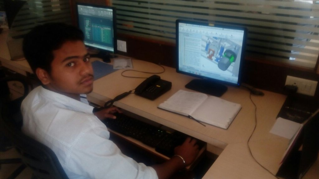 Prafull at his work place