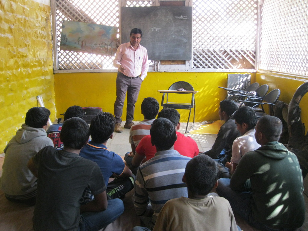 10 boys enrolled for two wheeler repairing course