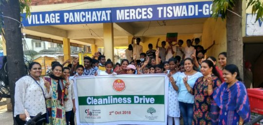 Cleanliness Drive organised by CCI children