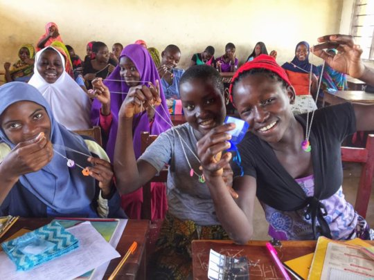 Girls in Study Camp