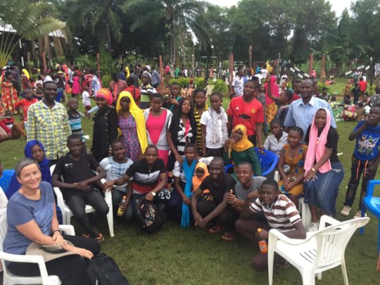 Christmas Celebration with Campers at Gordon Beach